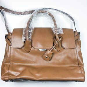 The Limited Brown Faux Leather Bag NWT